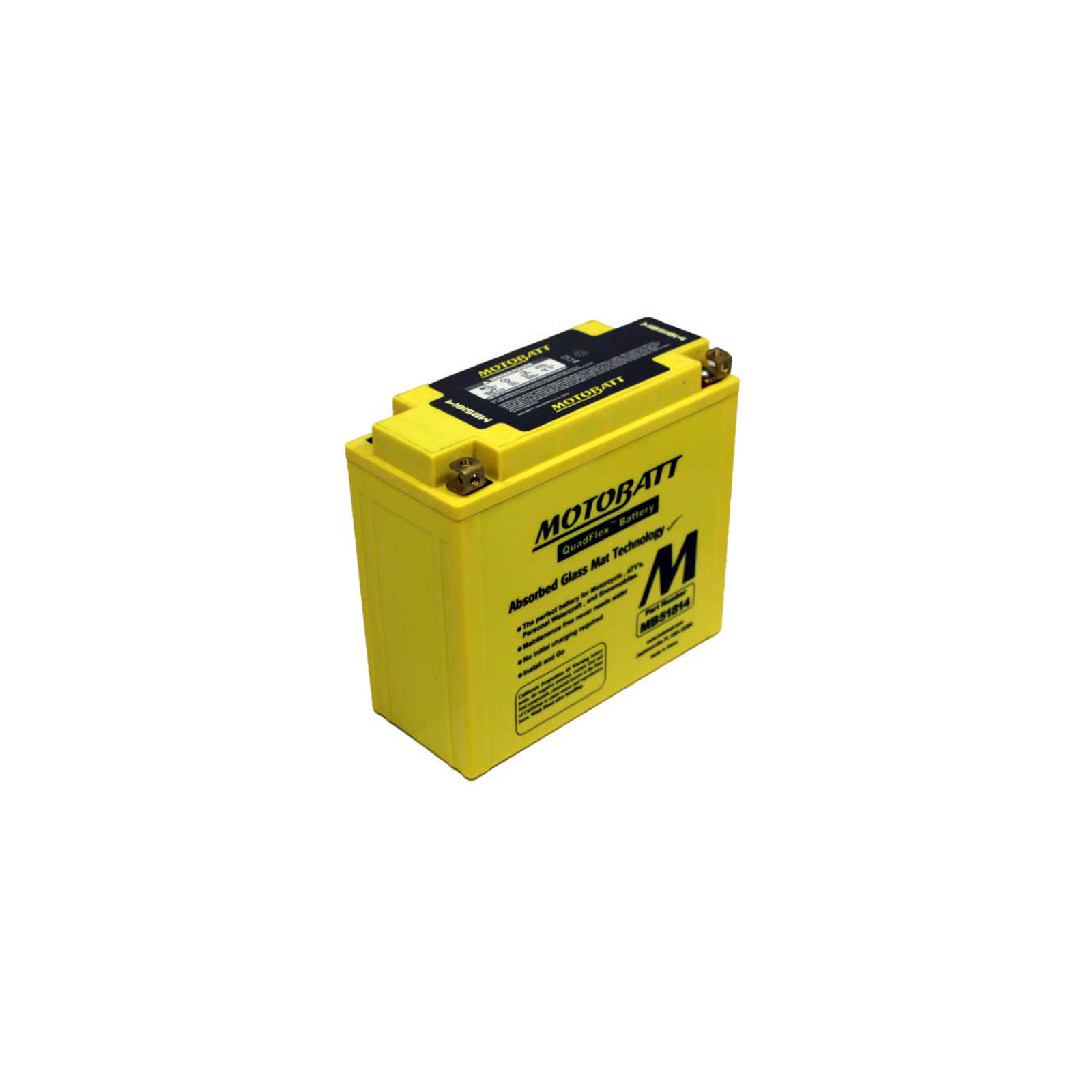 Motobatt Mb51814 12v 22ah Motorcycle Battery Replaces