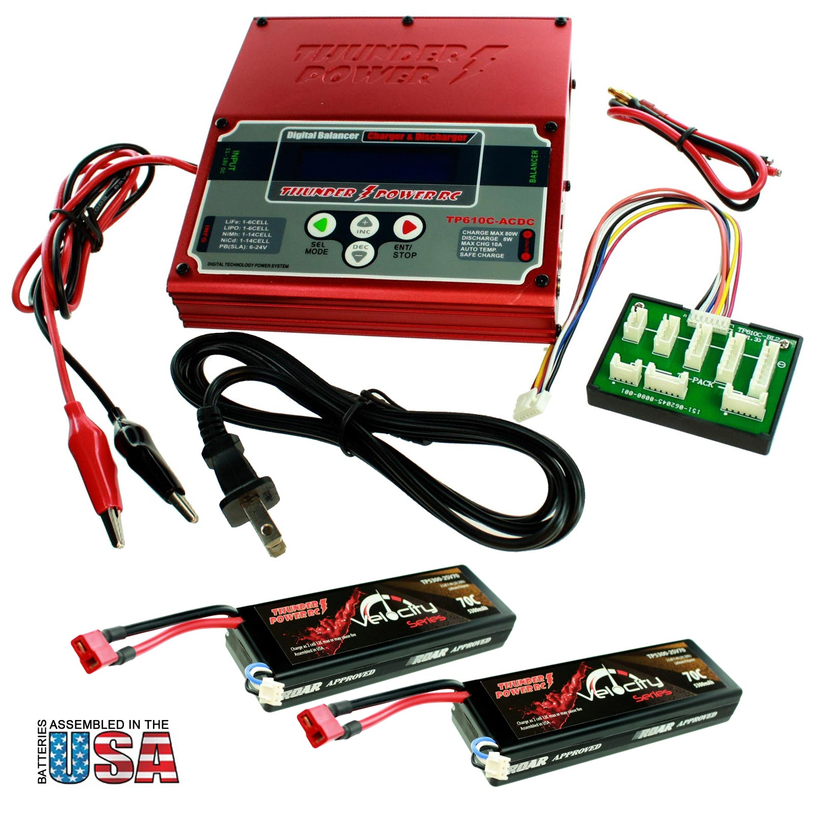 Battery Charger + 2 5300mAh Batteries For Pro RC Car/Tank