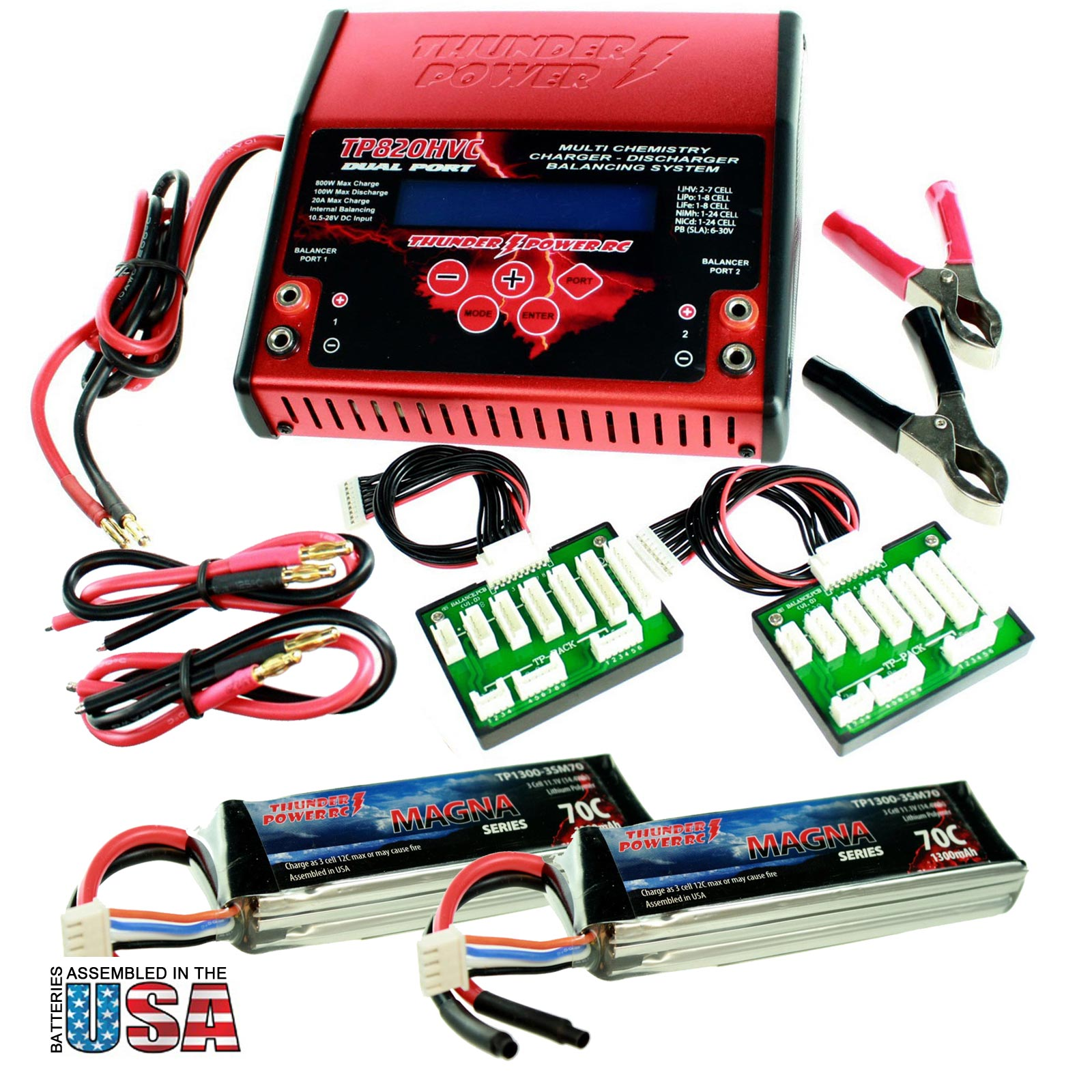 Battery Charger + 2 1300mAh Batteries For Pro RC Car/Tank