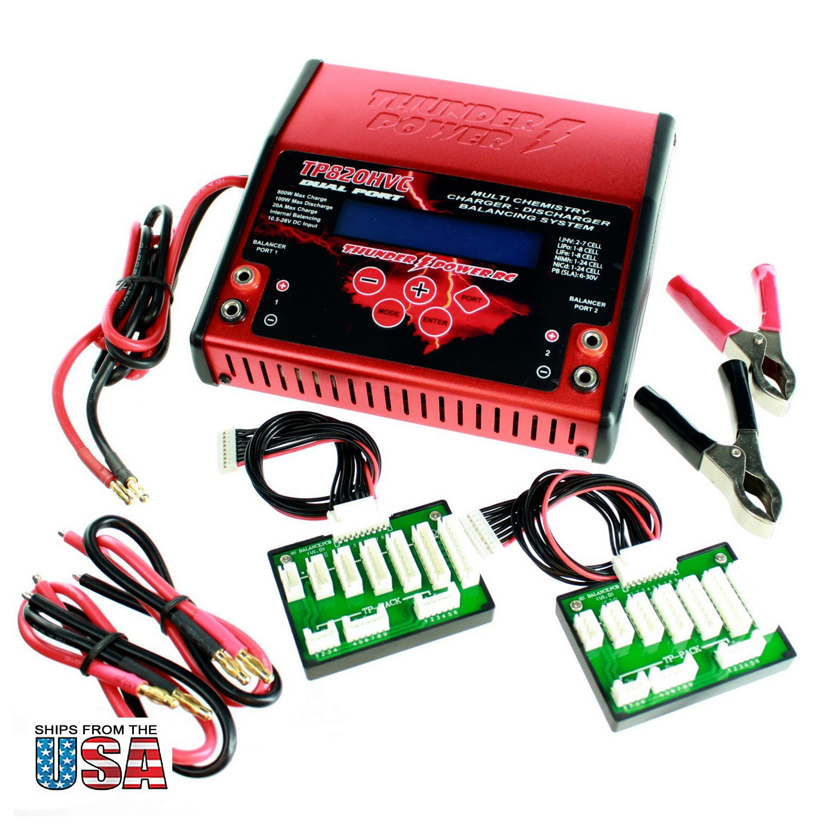 Battery Charger + 2 1800mAh Batteries For Pro RC Car/Tank