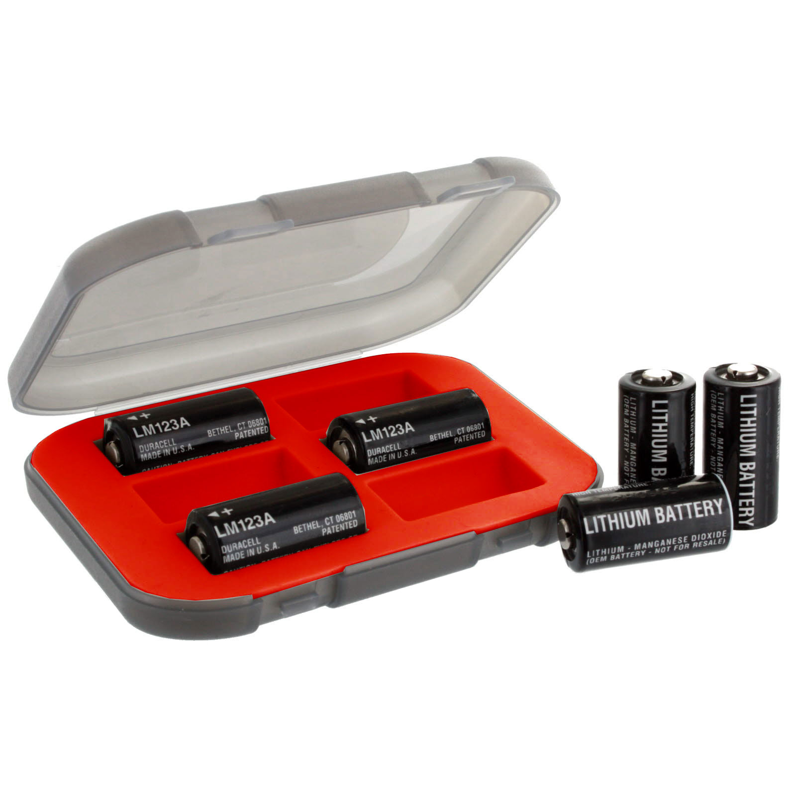 cr123 combo 6 x cr 123 exell lithium batteries w case fast usa ship ebay. Black Bedroom Furniture Sets. Home Design Ideas