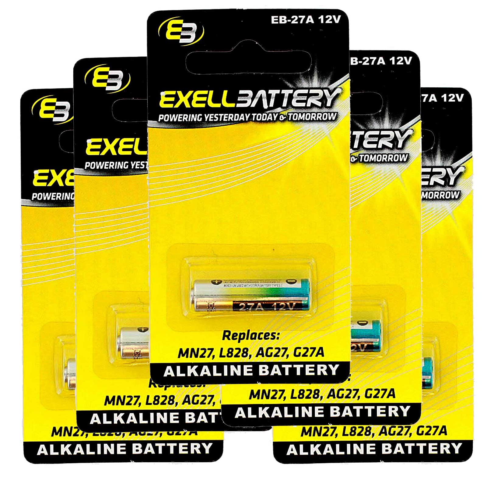 5x Exell EB-27A Alkaline 12V Battery Replaces L828 MN27 R27A FAST USA SHIP | eBay