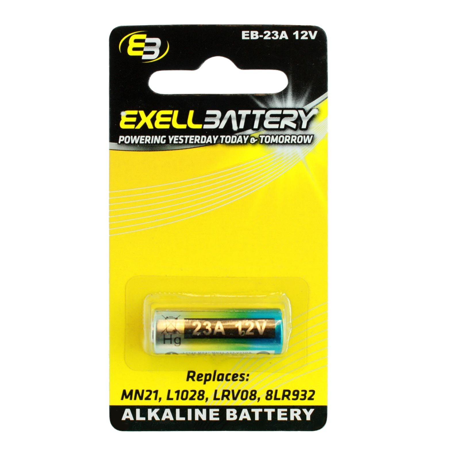 exell eb 23a alkaline 12v battery replaces mn21 l1028. Black Bedroom Furniture Sets. Home Design Ideas