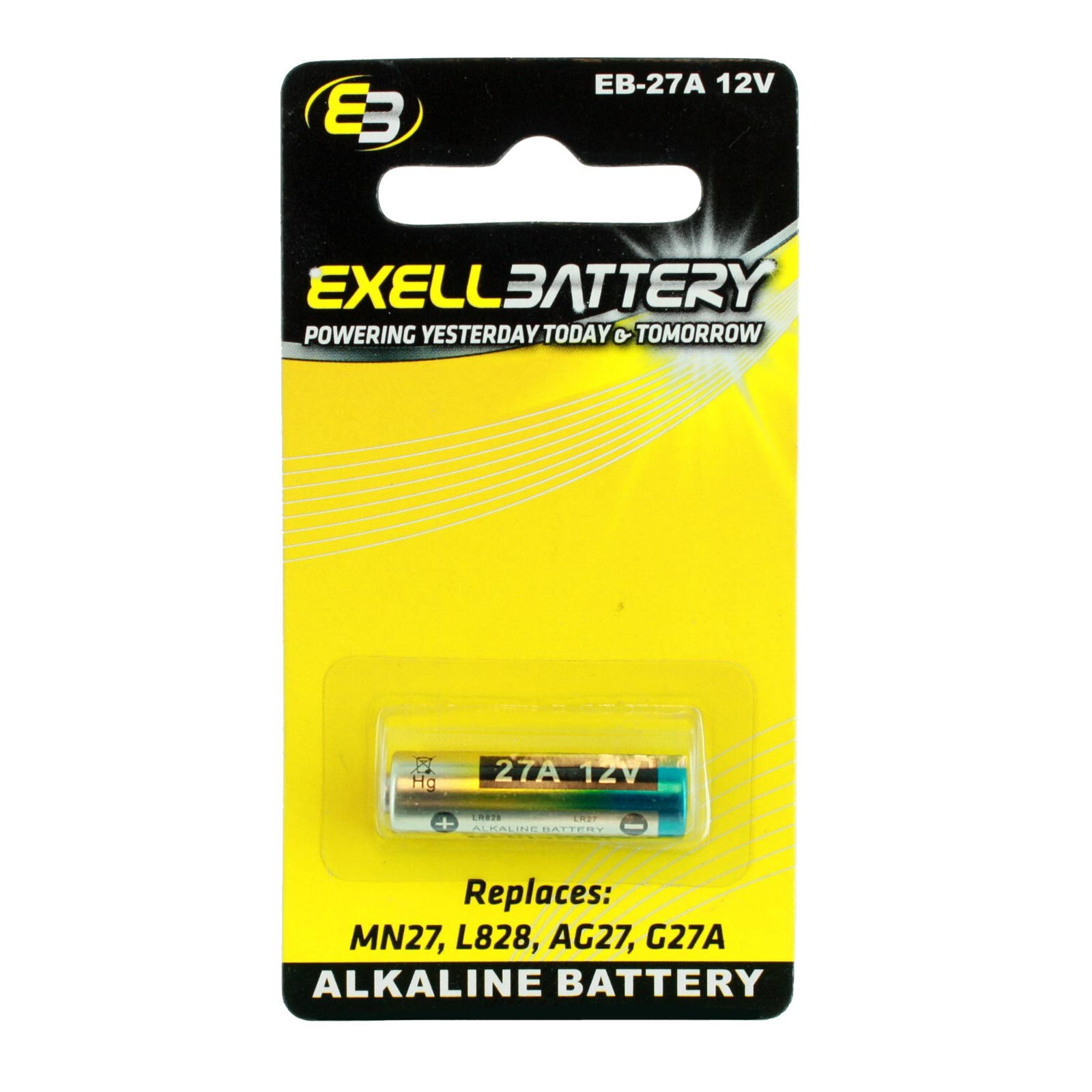 Exell EB-27A Alkaline 12V Battery Replaces MN27 L828 AG27 G27 FAST USA SHIP | eBay