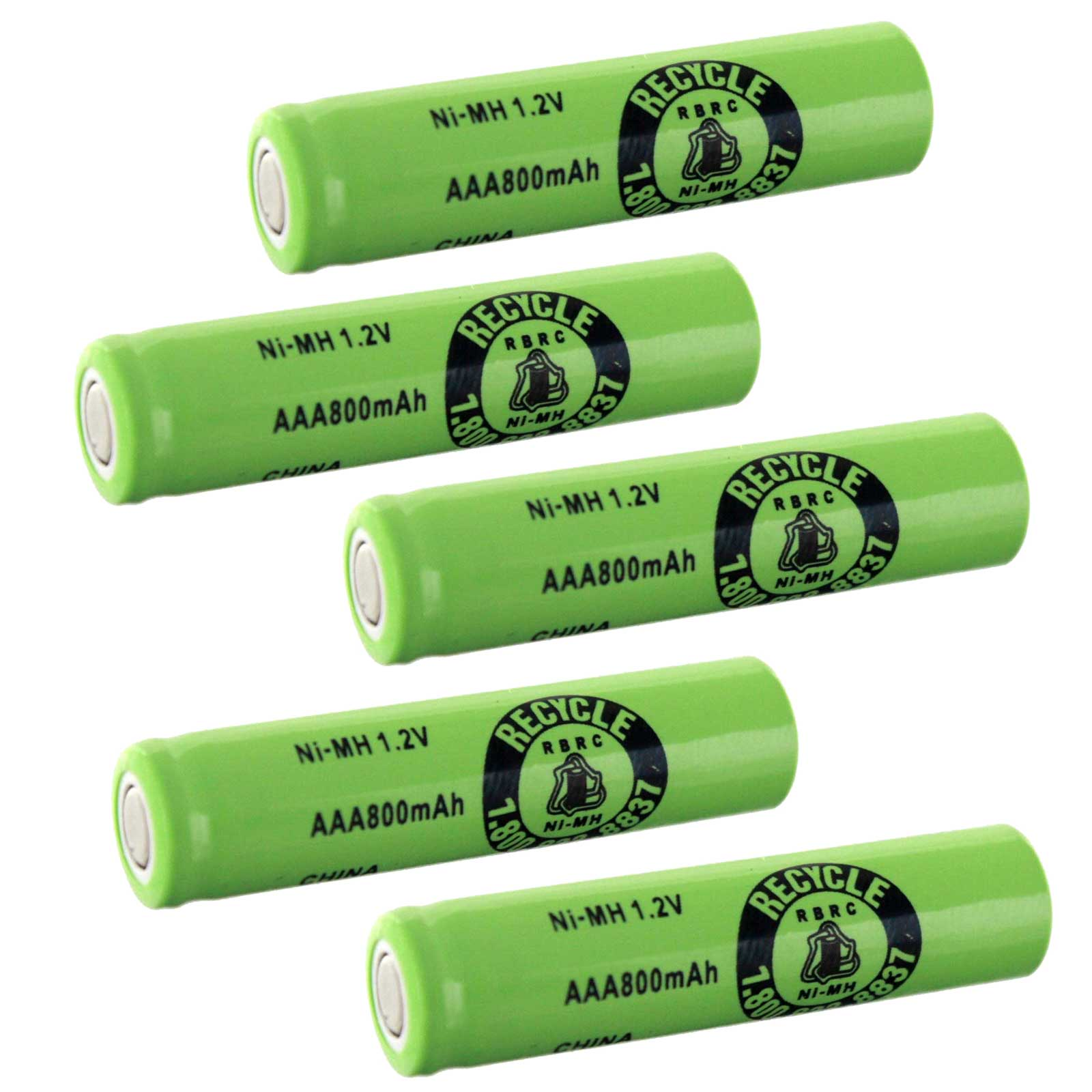 5pc aaa size 1 2v 750mah nimh rechargeable battery flat top cell fast usa ship ebay. Black Bedroom Furniture Sets. Home Design Ideas