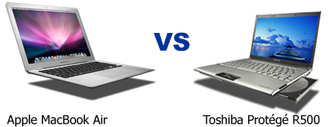 Apple MacBook Air vs Toshiba Protégé R500