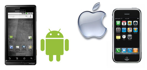 Google Droid vs Apple iPhone