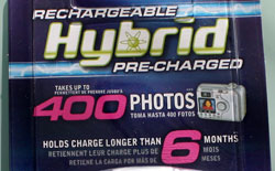 Rayovac claims 400 photos per charge