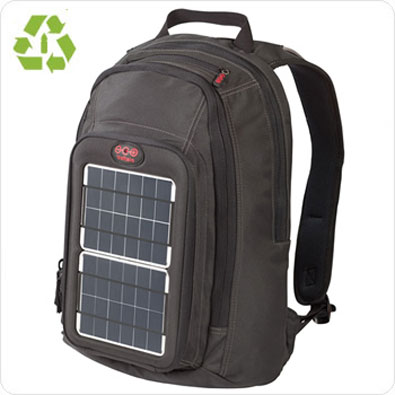 Solar backpack for charging your portable electronics and cell phone