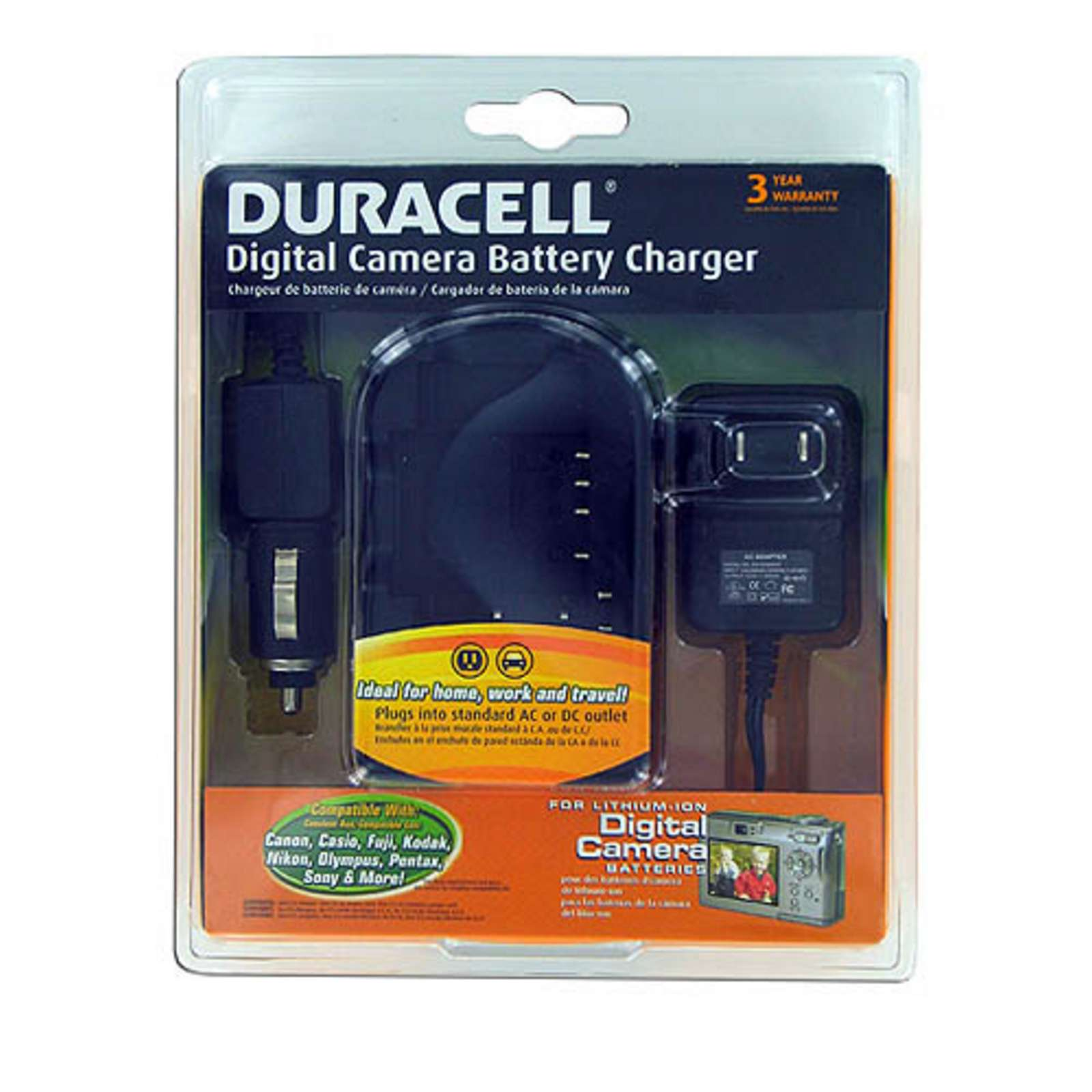 duracell drchdigt digital camera battery charger for canon. Black Bedroom Furniture Sets. Home Design Ideas