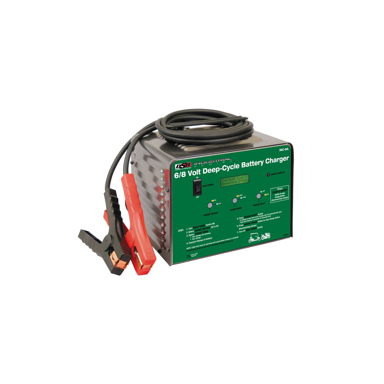 schumacher inc 8a 80 amp deep cycle battery charger ebay. Black Bedroom Furniture Sets. Home Design Ideas