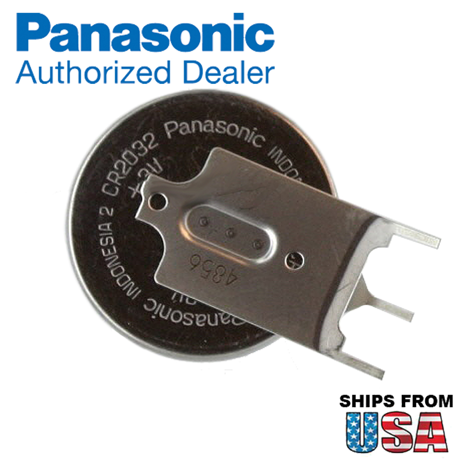 panasonic cr 2032 gvn 3v lithium coin battery horz 3 pins tab for pc boards ebay. Black Bedroom Furniture Sets. Home Design Ideas
