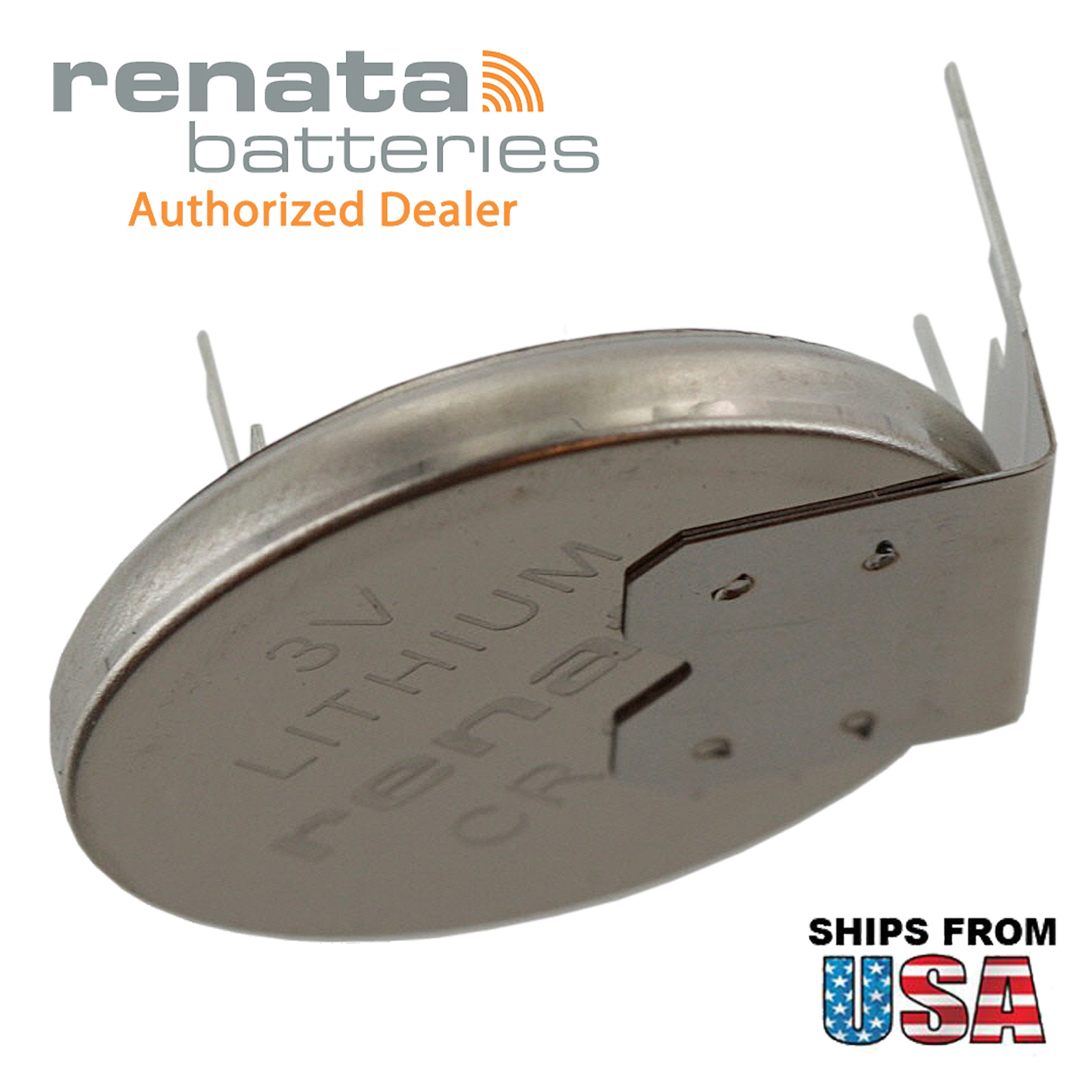 Renata Cr2032rh Mfr 3v Lithium Coin Battery Horz 3 Pin For