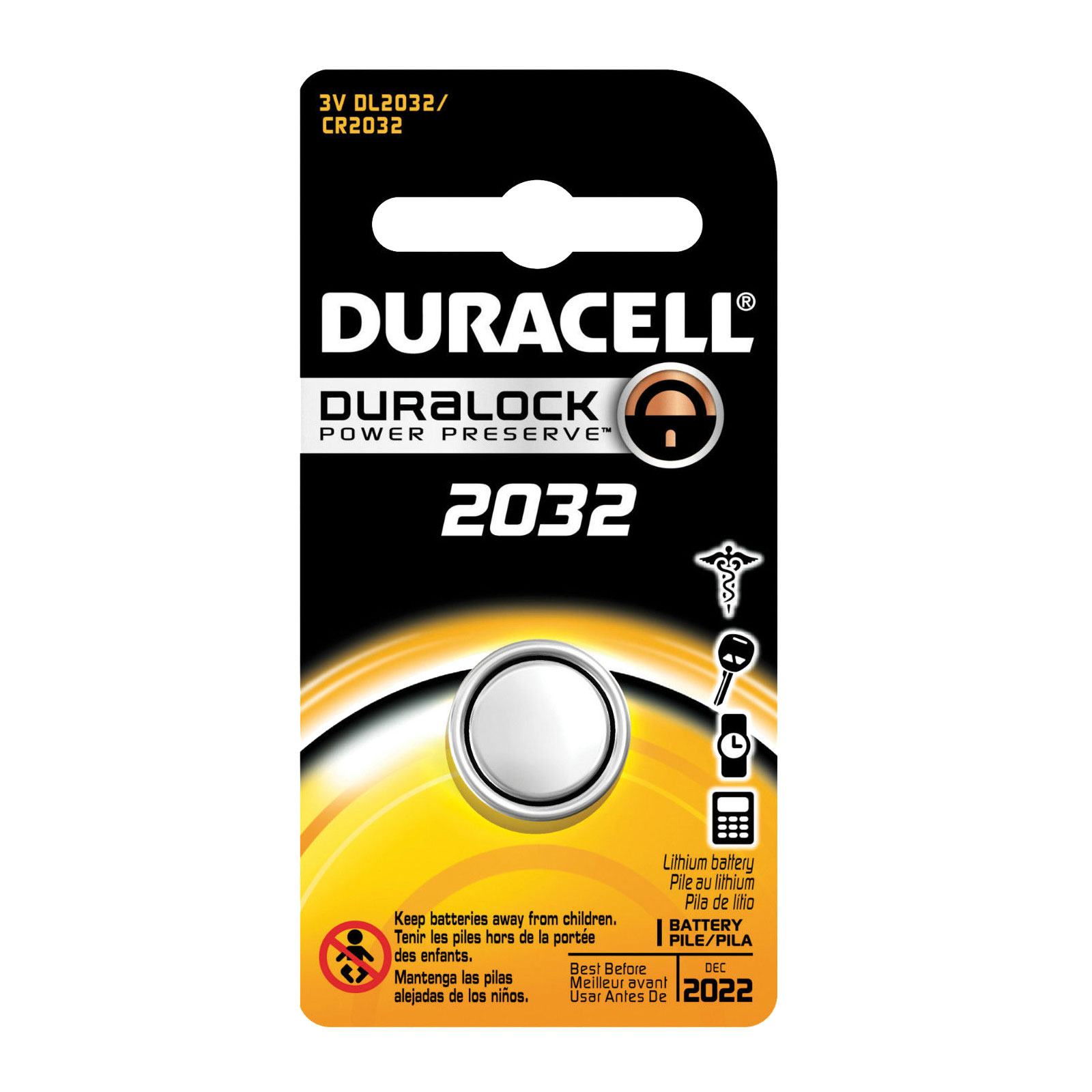 duracell coin cell battery dl2032 3v lithium replaces. Black Bedroom Furniture Sets. Home Design Ideas