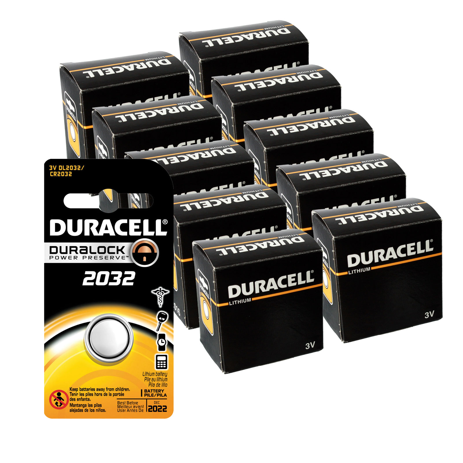 100pc duracell coin cell battery cr2032 3v lithium. Black Bedroom Furniture Sets. Home Design Ideas