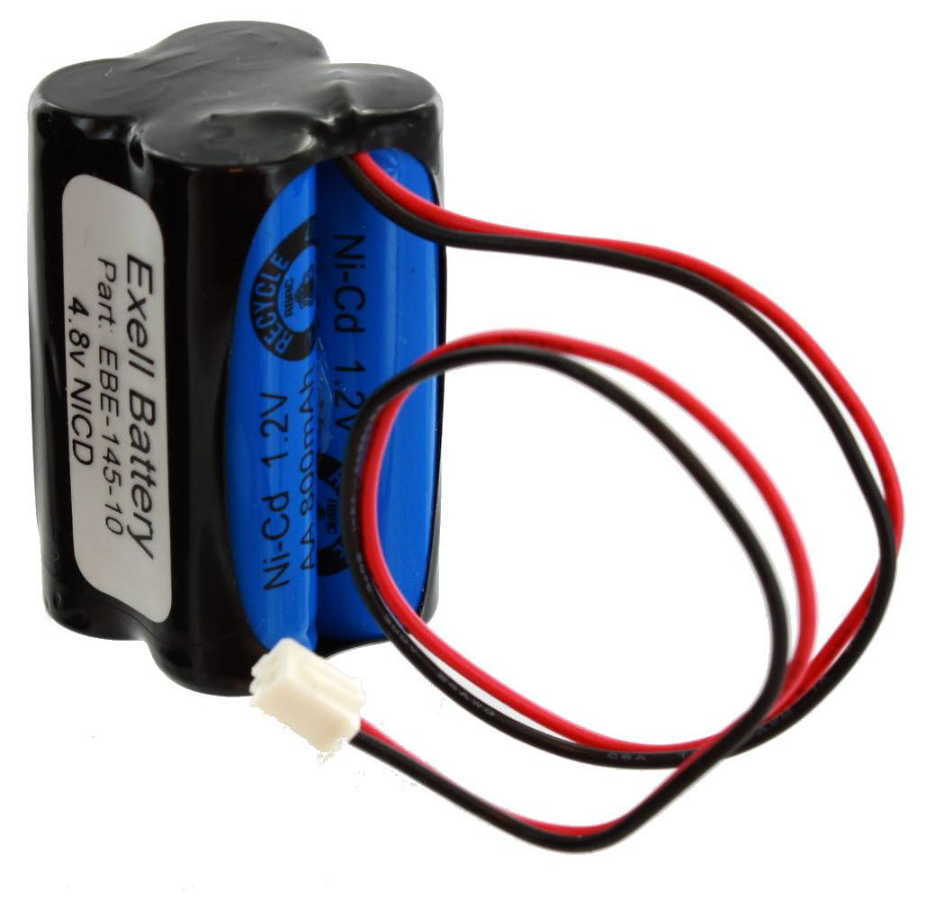 Lithonia Lighting Emergency Light Battery: 2pc Lithonia D-AA650BX4 Squared Pack Emergency Lighting