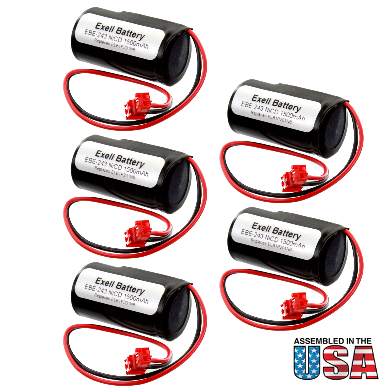 Lithonia Lighting Emergency Light Battery: 5pc Lithonia Emergency Light Battery For 1009S00-MZ