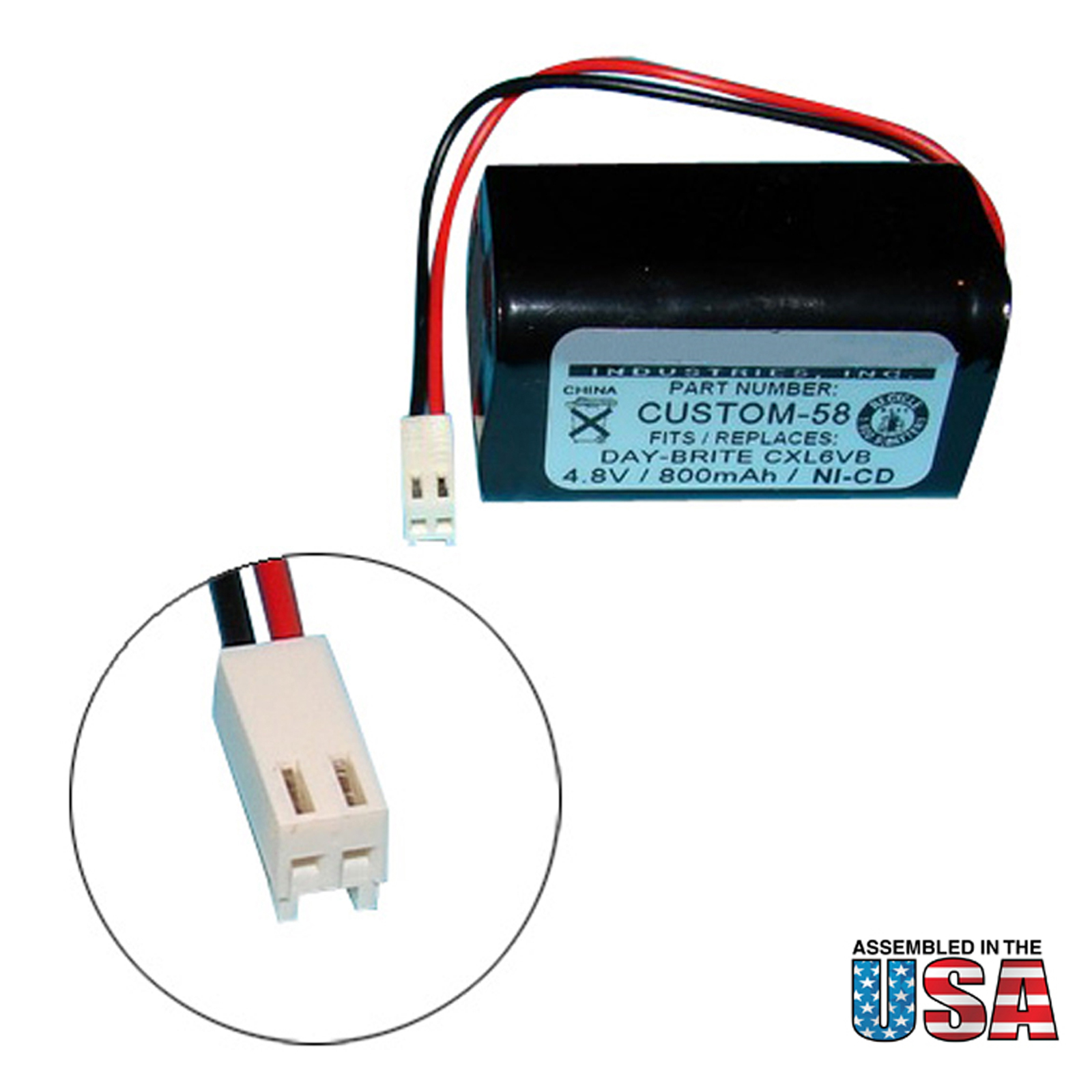 Emergency Lighting Battery Fits Day Brite Cxl6vb Ctl