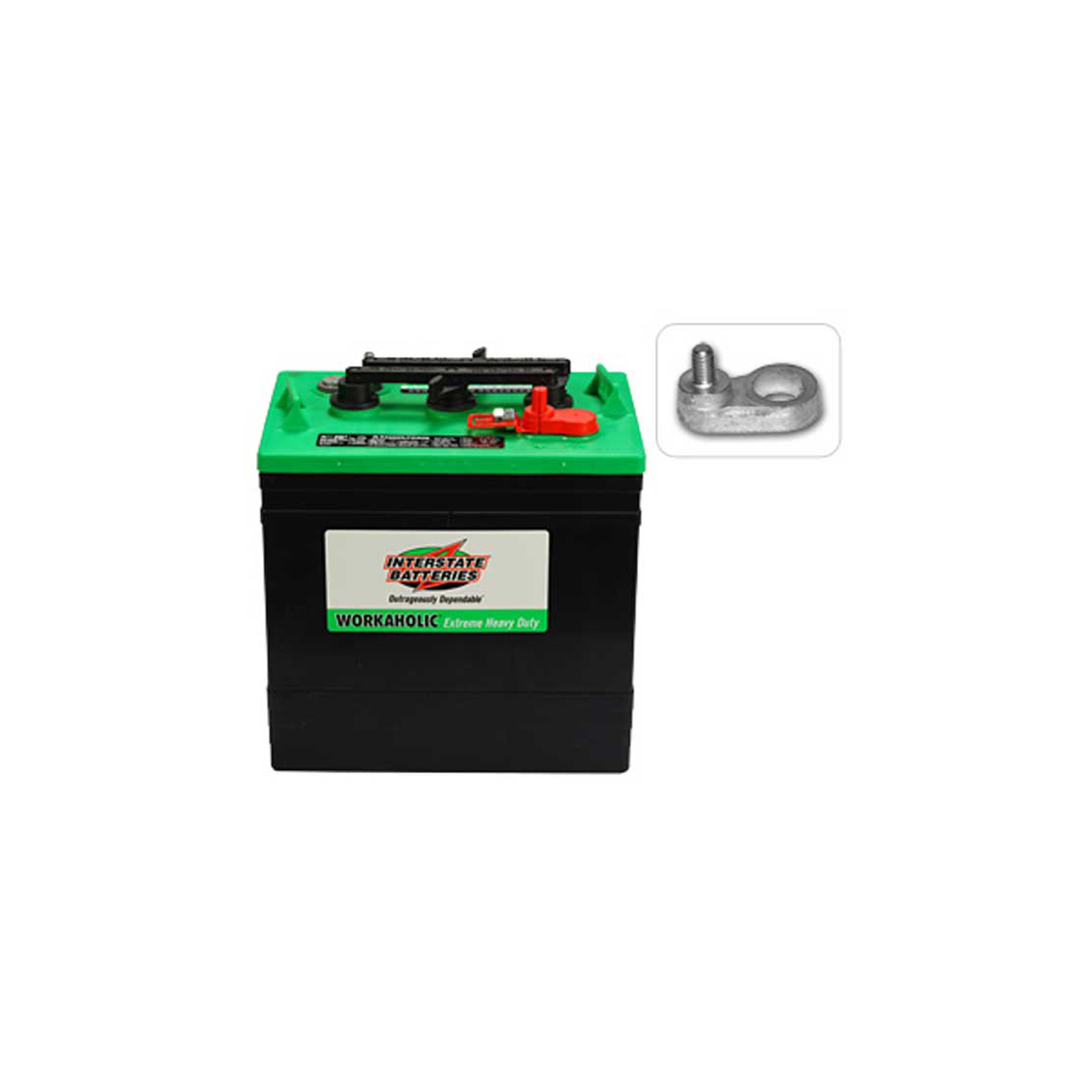 6v 232ah deep cycle battery interstate gc2 xhd wet cell for golf carts ebay. Black Bedroom Furniture Sets. Home Design Ideas