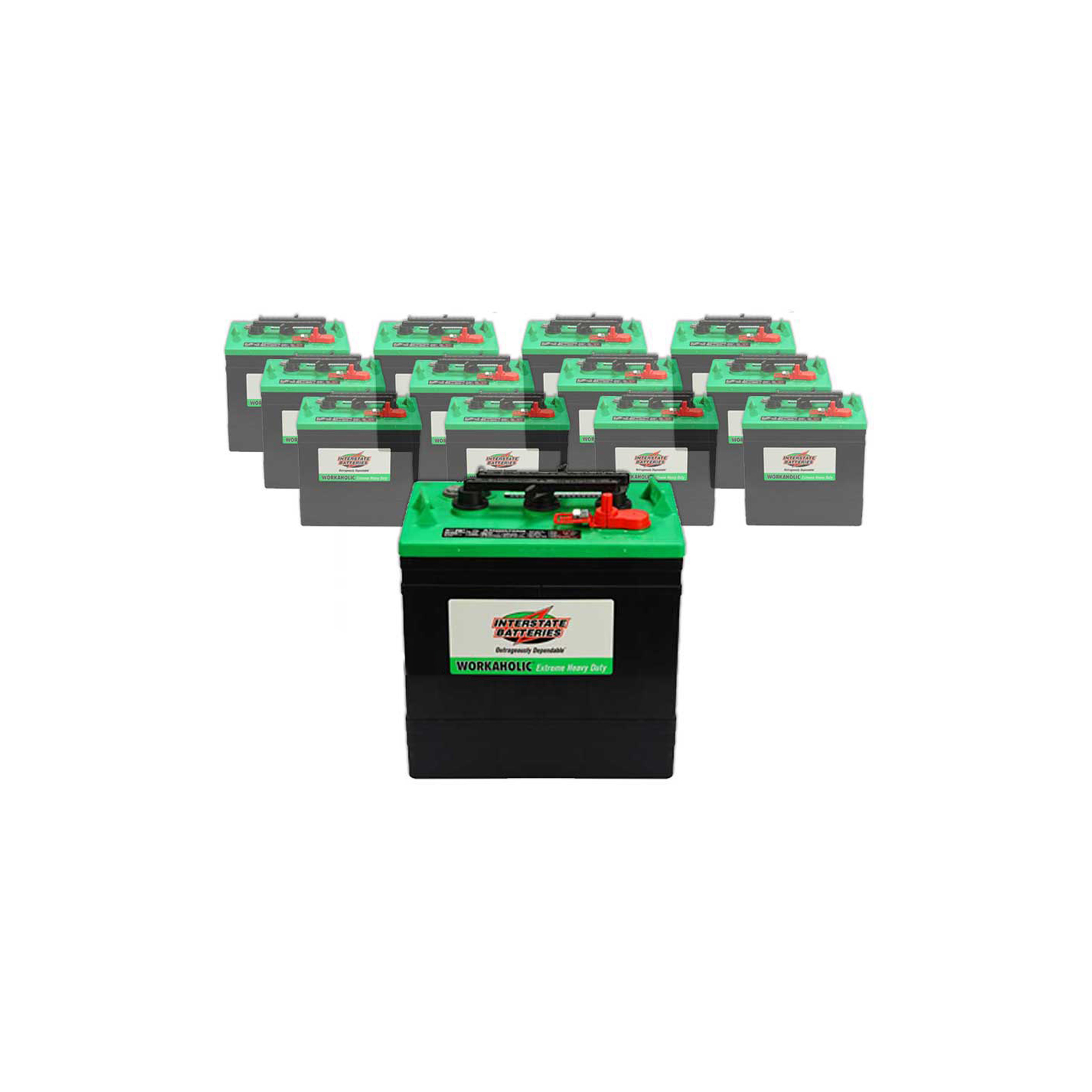 12 x 232ah 6v wet deep cycle battery interstate gc2 xhd. Black Bedroom Furniture Sets. Home Design Ideas
