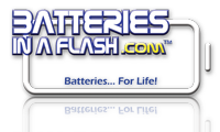 Batteries In A Flash Logo