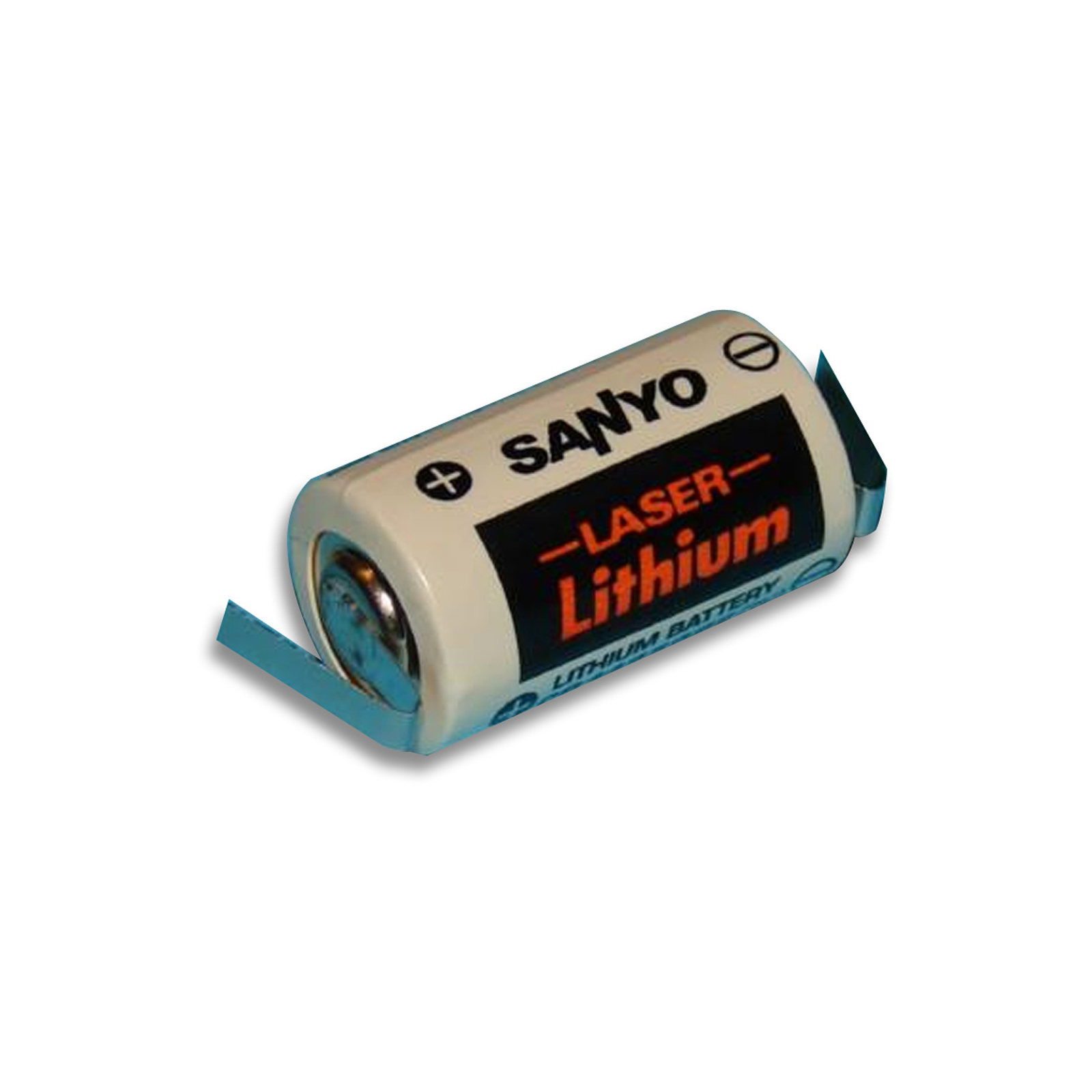 sanyo cr14250se t 3v 1 2 aa laser lithium battery w solder tabs ebay. Black Bedroom Furniture Sets. Home Design Ideas