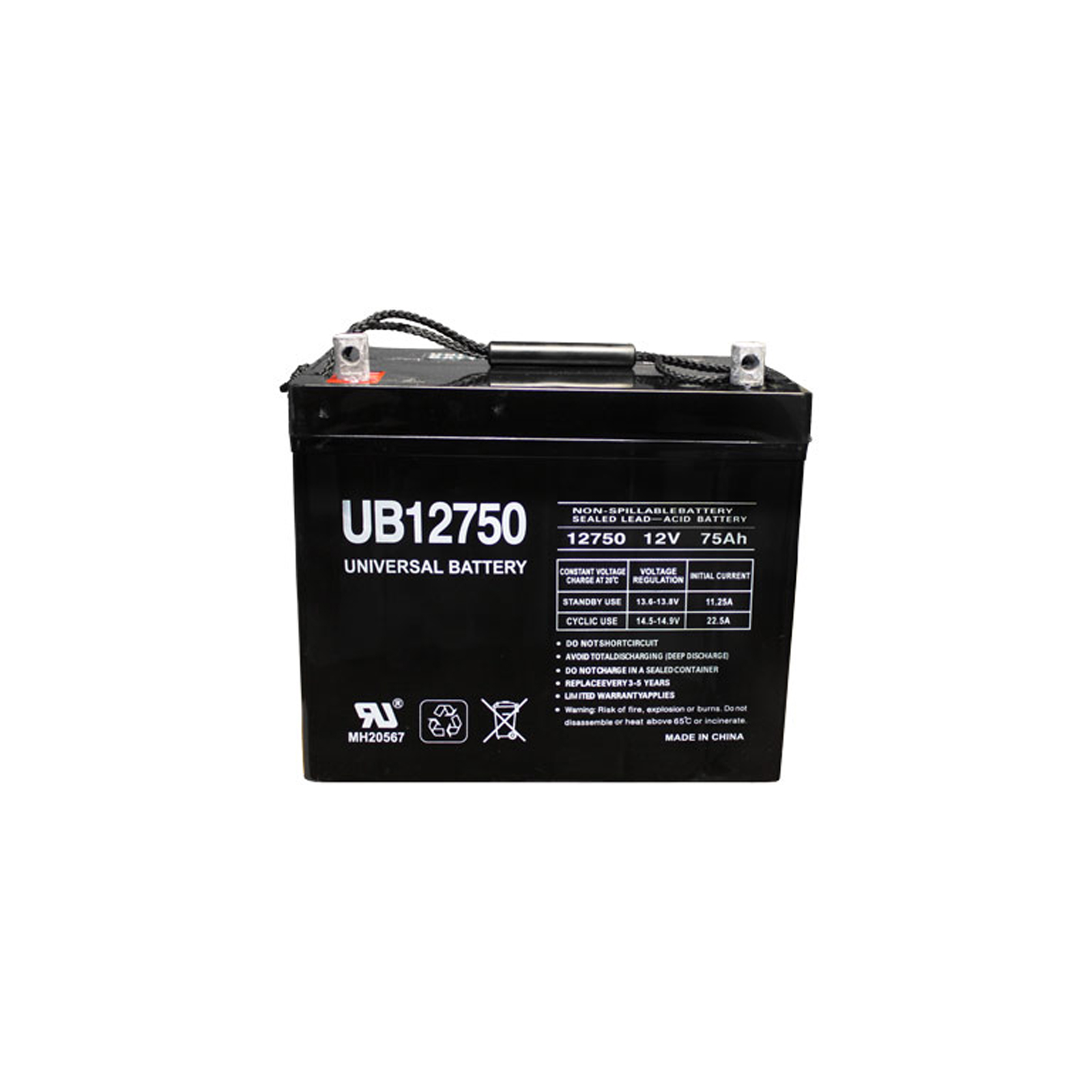 Sealed Battery on 12v 75ah Agm Sla Battery Universal Ub12750 Group 24   Ebay