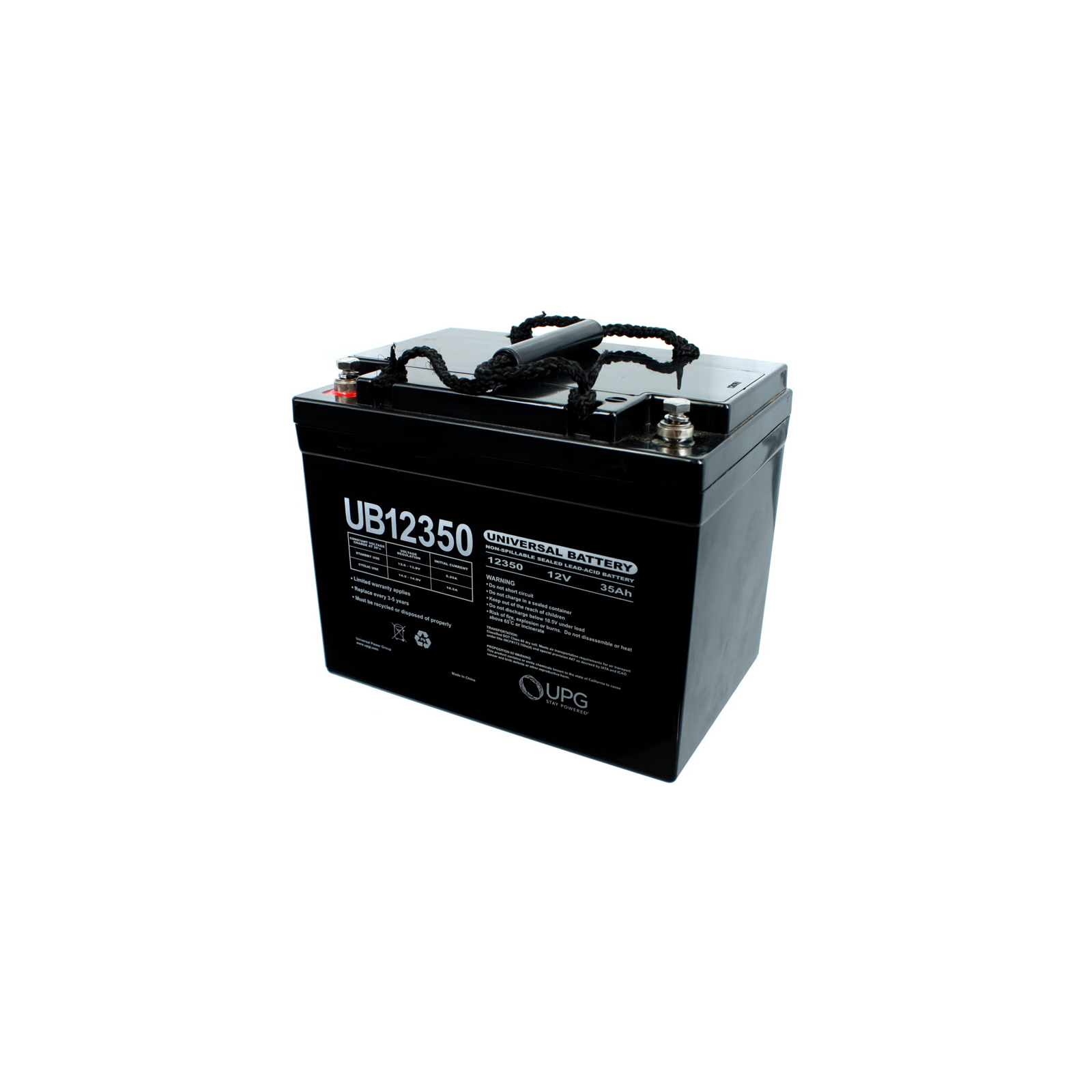 Battery on Upg Ub12350 12v 35ah Agm Sealed Lead Acid Battery Group U1 For