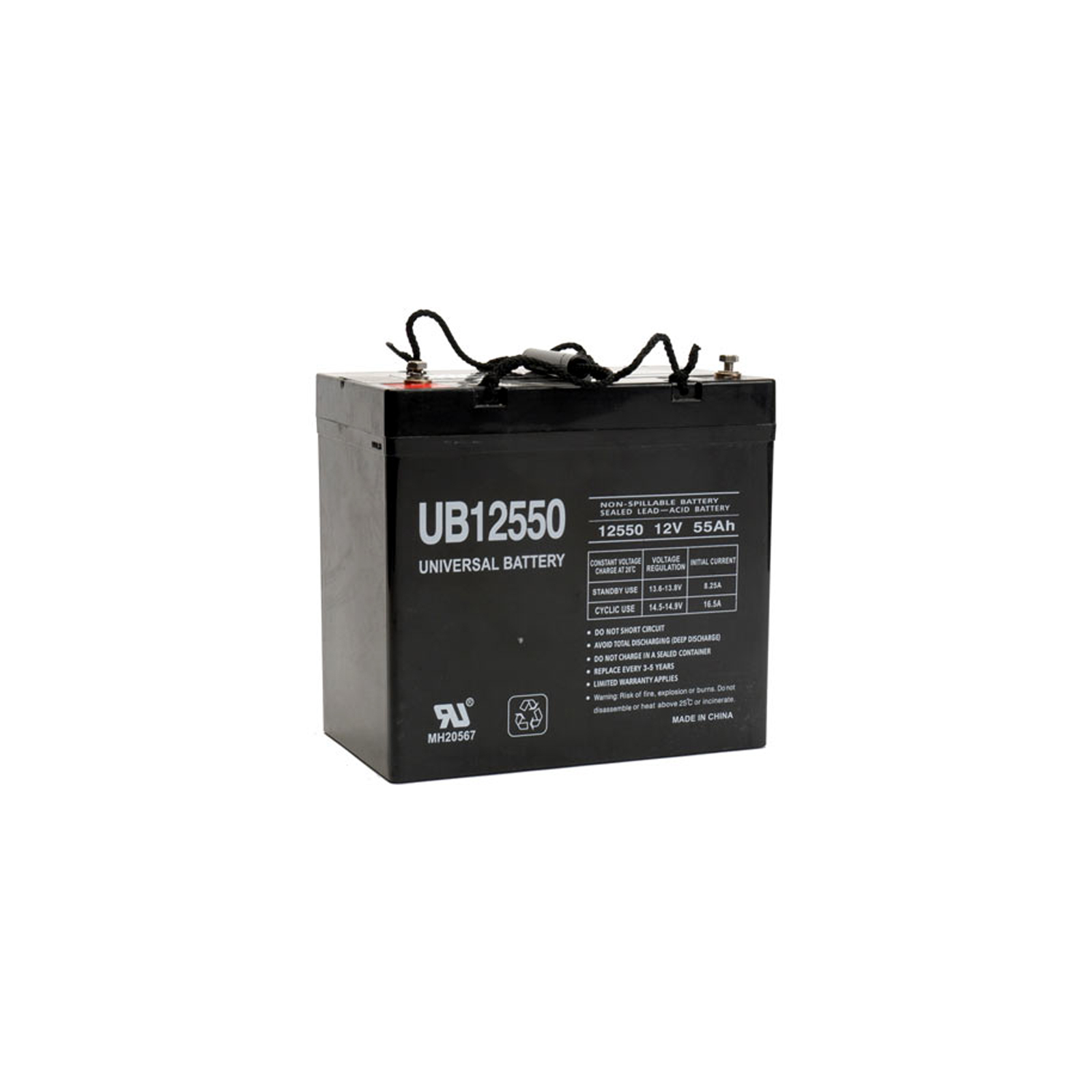 Sealed Battery on 12v 55ah Agm Sla Battery Universal Ub12550 Group 22nf   Ebay