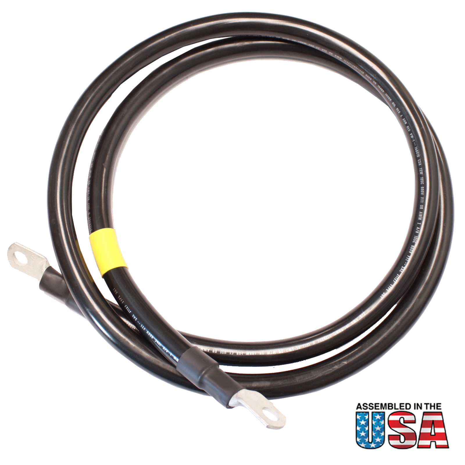 10 Battery Cable : Awg black battery interconnect cable ft quot lugs