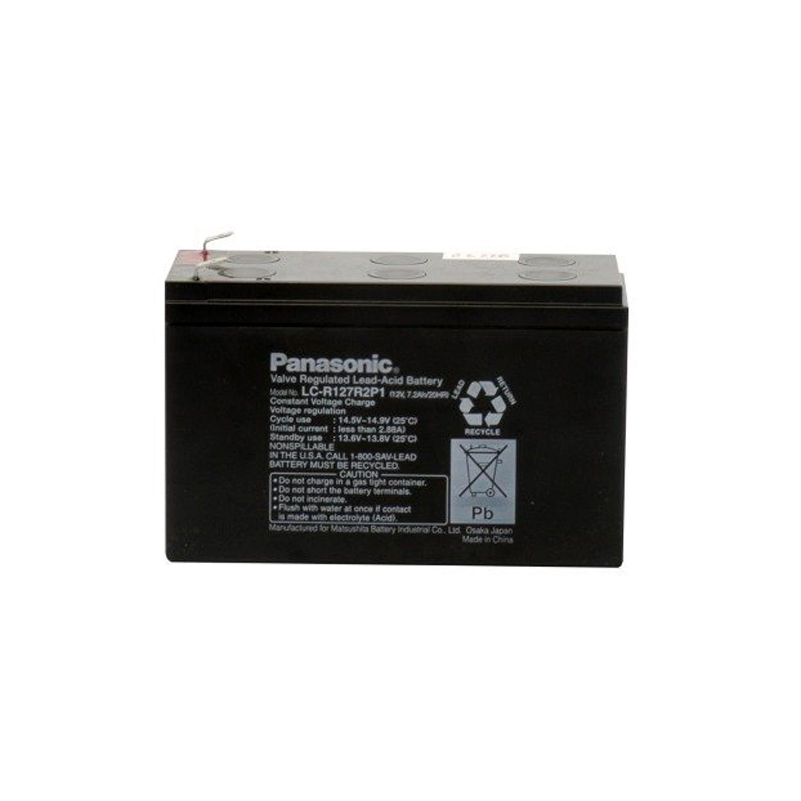 Sealed Lead Acid Battery on Panasonic Lc R127r2p1 Sealed Lead Acid Battery 12v 7 2a   Ebay