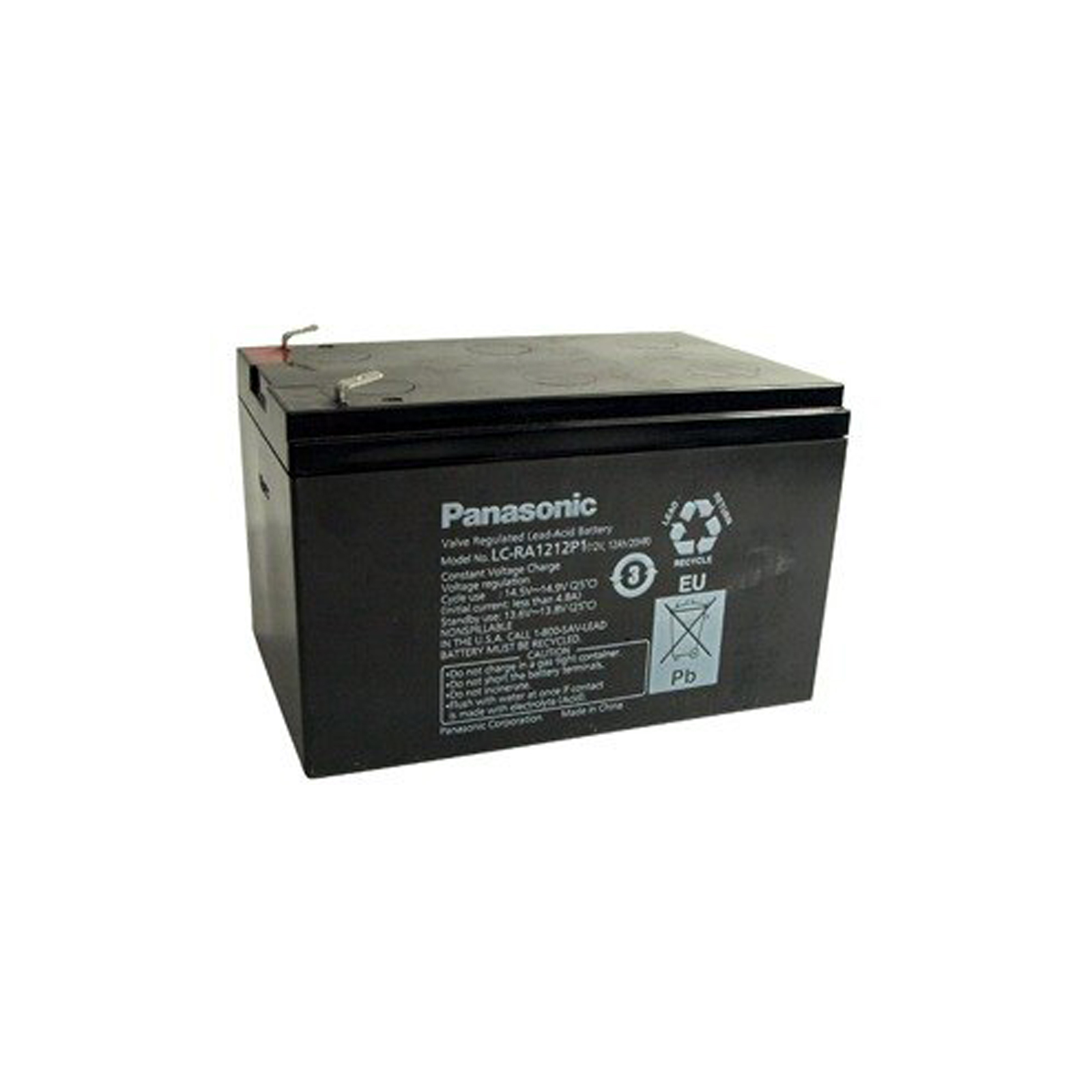 Sealed Lead Acid Battery on Panasonic Lc Ra1212p1 Sla Sealed Lead Acid Battery 12v 12ah   Ebay