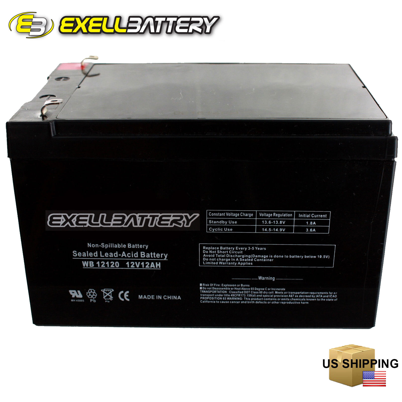 kid trax 12 volt 12 ah rechargeable replacement battery 12v 12ah exell battery ebay. Black Bedroom Furniture Sets. Home Design Ideas