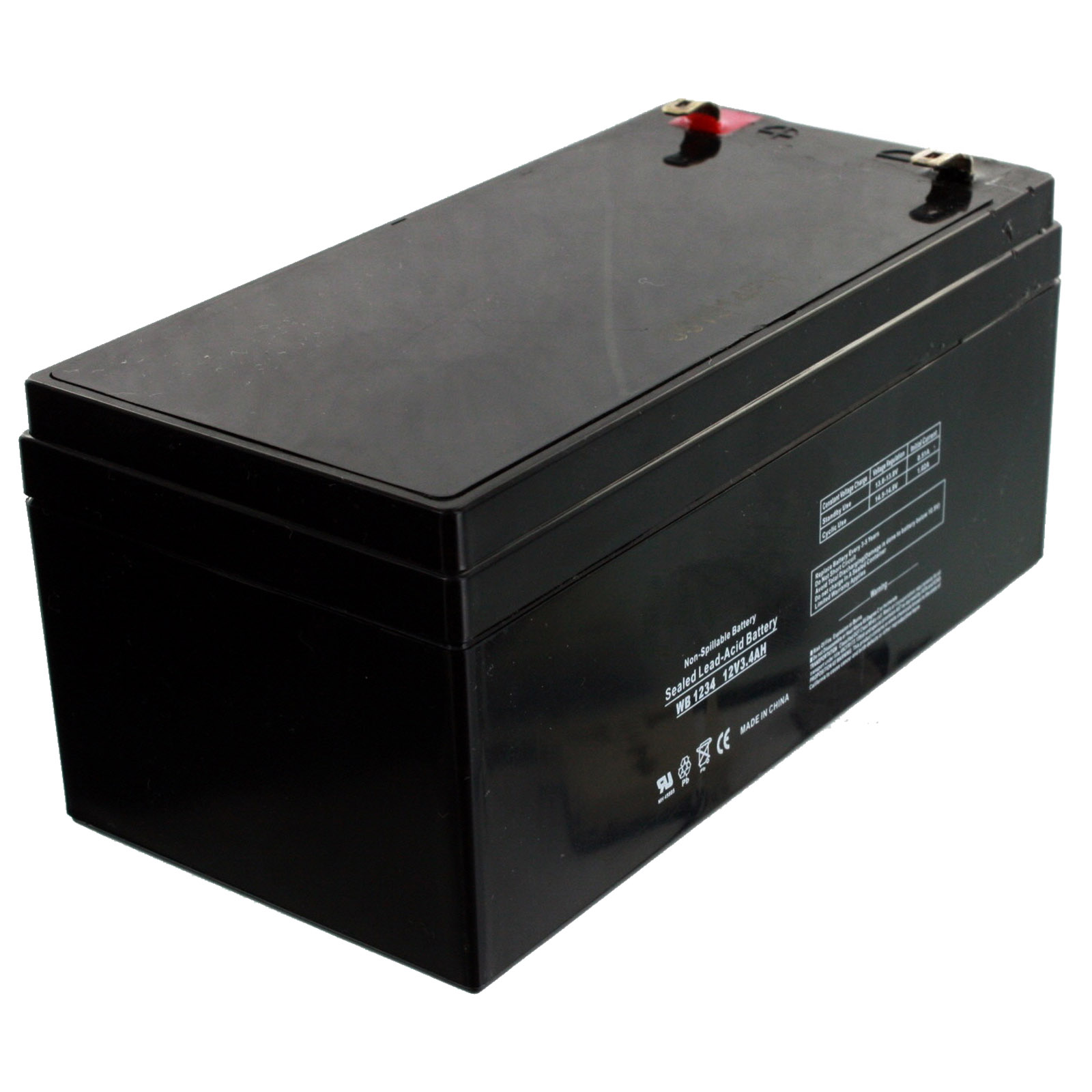 replacement for toro lawn mower 106 8397 battery 12v 3 4ah fast usa ship ebay. Black Bedroom Furniture Sets. Home Design Ideas