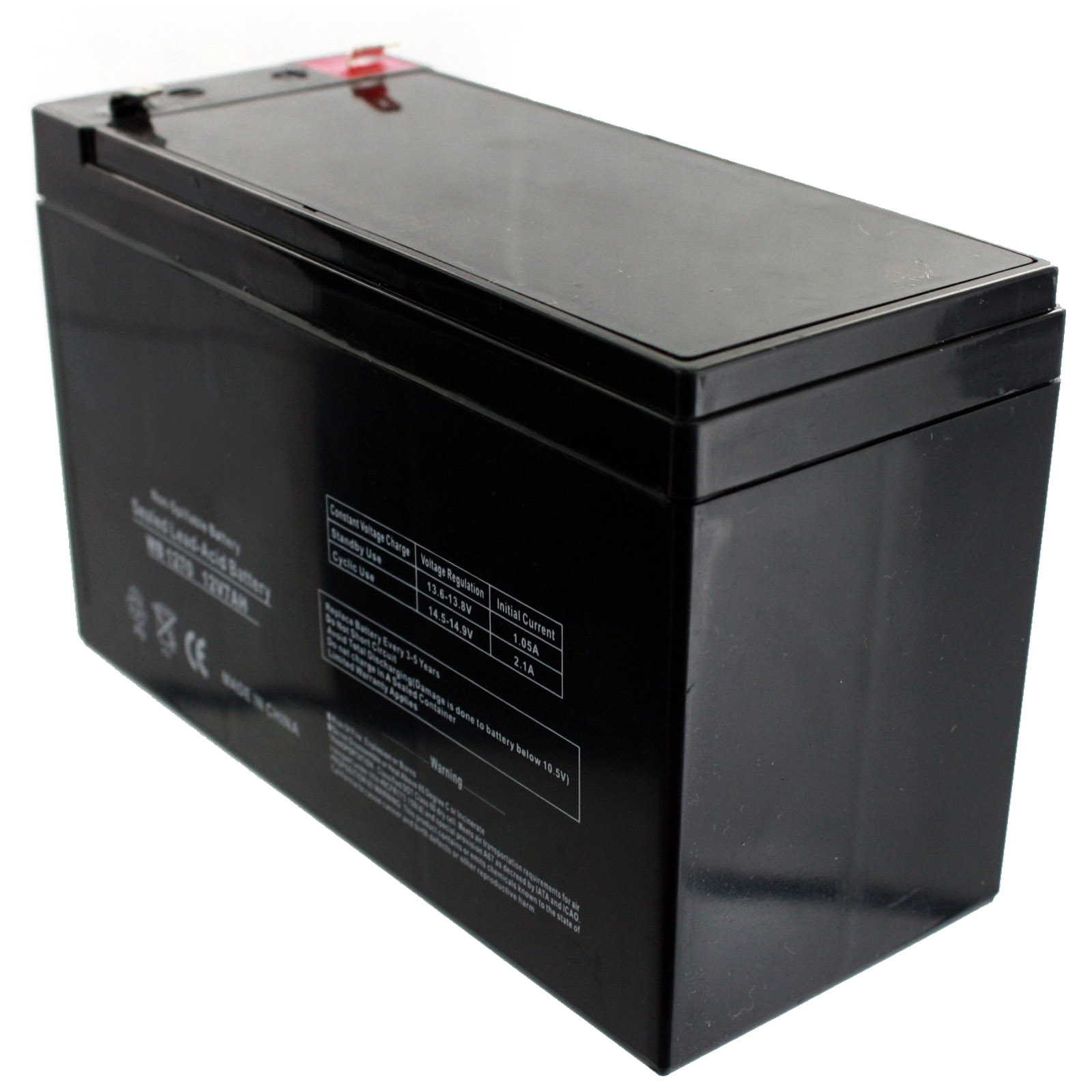 12v 7ah sla battery replaces gp1272 np7 12 bp7 12 npw36 12 ps 1270 ub1280 ebay. Black Bedroom Furniture Sets. Home Design Ideas