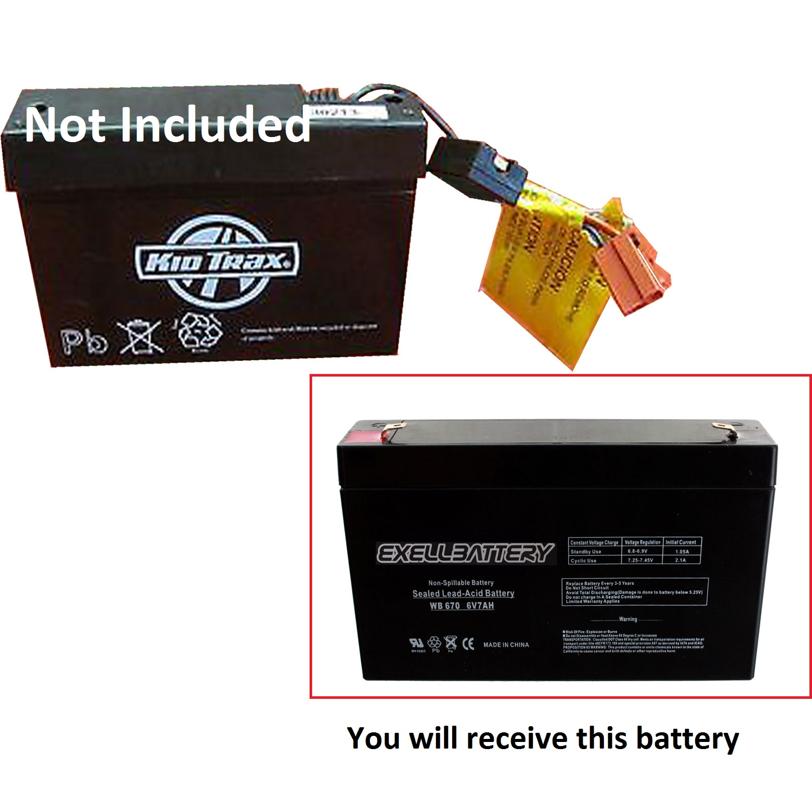 6v 7ah kid trax replacement toy battery 6 volt 7 amps kidtrax fast usa ship ebay. Black Bedroom Furniture Sets. Home Design Ideas