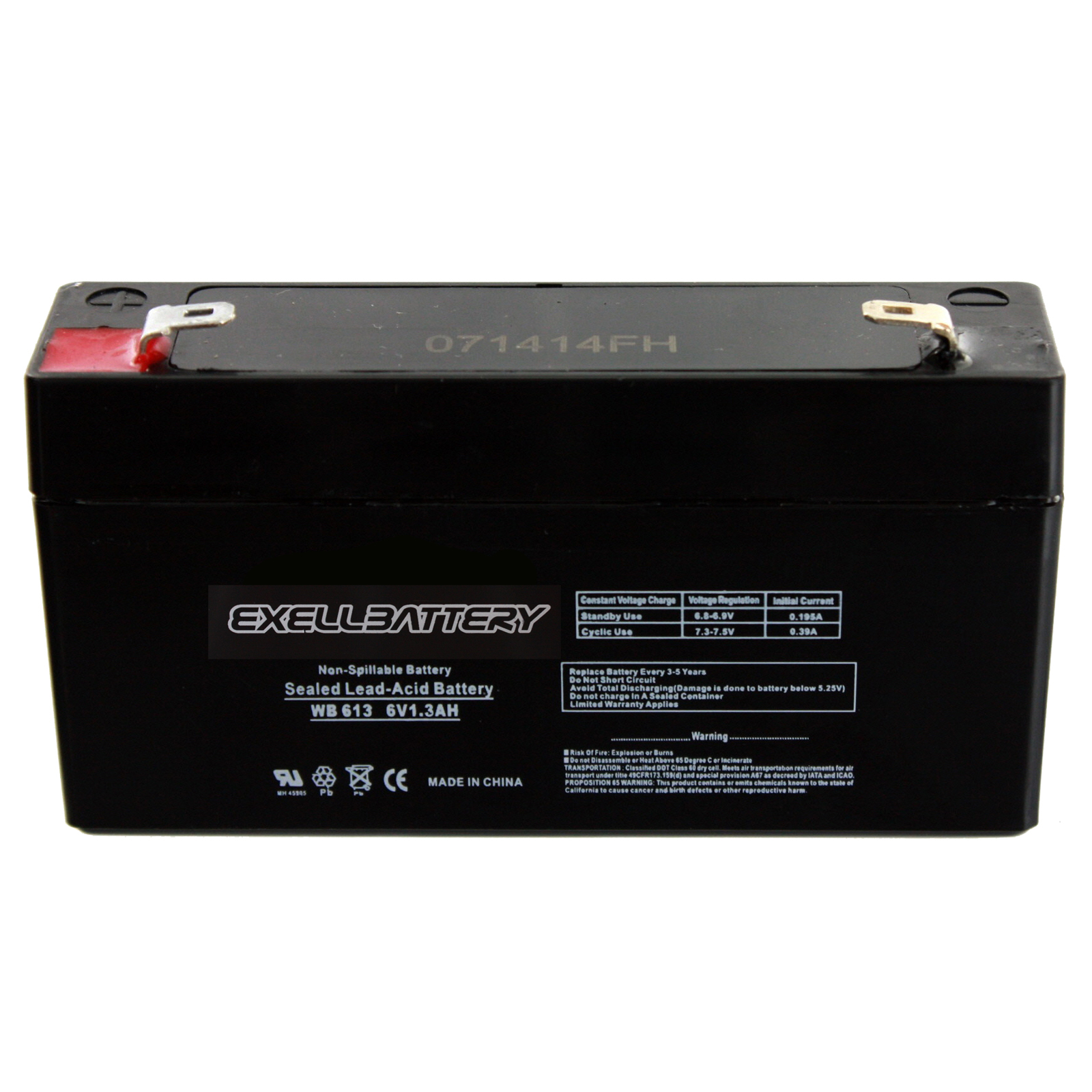 exell 6v 1 3ah ge simon xt alarm replacement battery 6. Black Bedroom Furniture Sets. Home Design Ideas