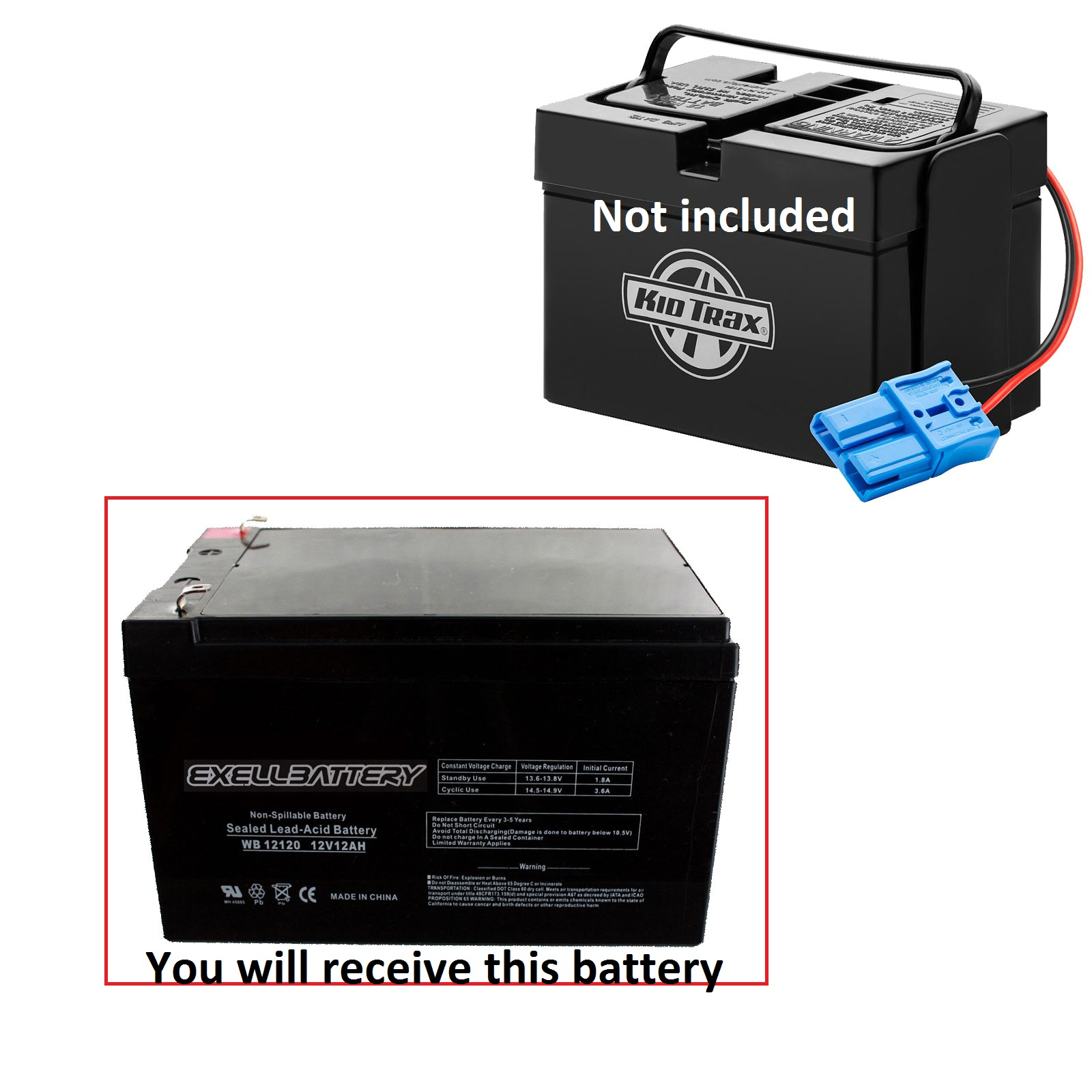 1 replacement battery for kid trax 12v dodge ram charger police car mercedes