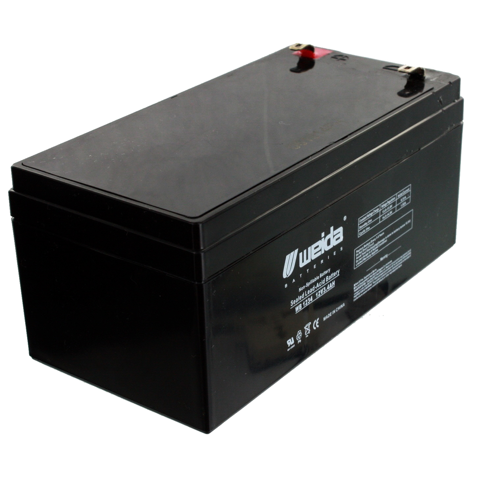new 12v 3 4ah sla battery wb1234 for ub1234 ps1230 np3 4. Black Bedroom Furniture Sets. Home Design Ideas