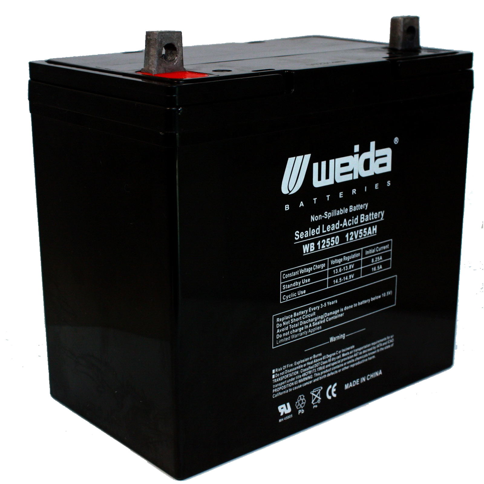new 12v 55ah sla battery wb12550 group22f for ub12550. Black Bedroom Furniture Sets. Home Design Ideas