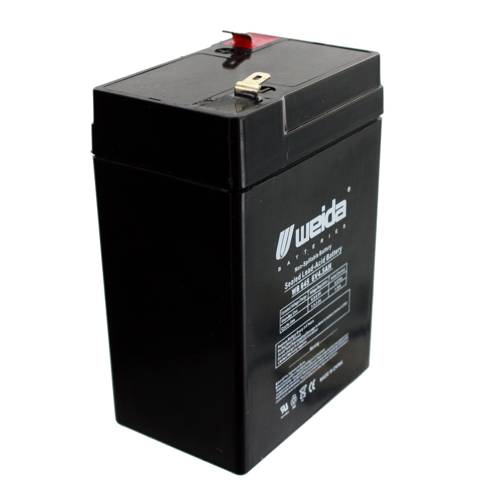 new ub645 sealed lead acid battery 6v 4 5ah 6 volt fast. Black Bedroom Furniture Sets. Home Design Ideas