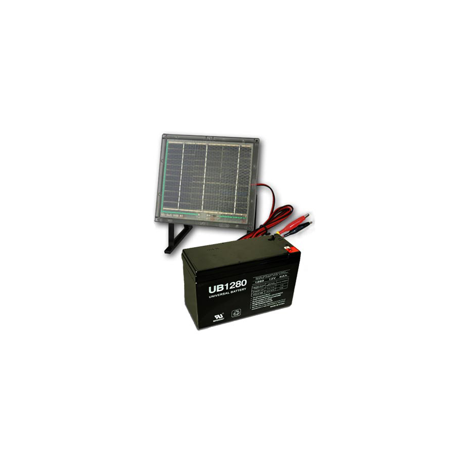 portable solar panel 12v 8ah sla ub1280 battery combo. Black Bedroom Furniture Sets. Home Design Ideas