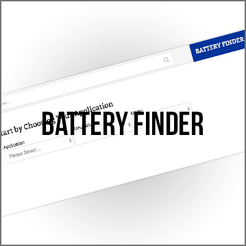 Use the Battery Finder to choose which Trojan Battery is used for your application.