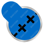 A675 or IEC PR44 Hearing Aid Battery Example with Blue Tab Color