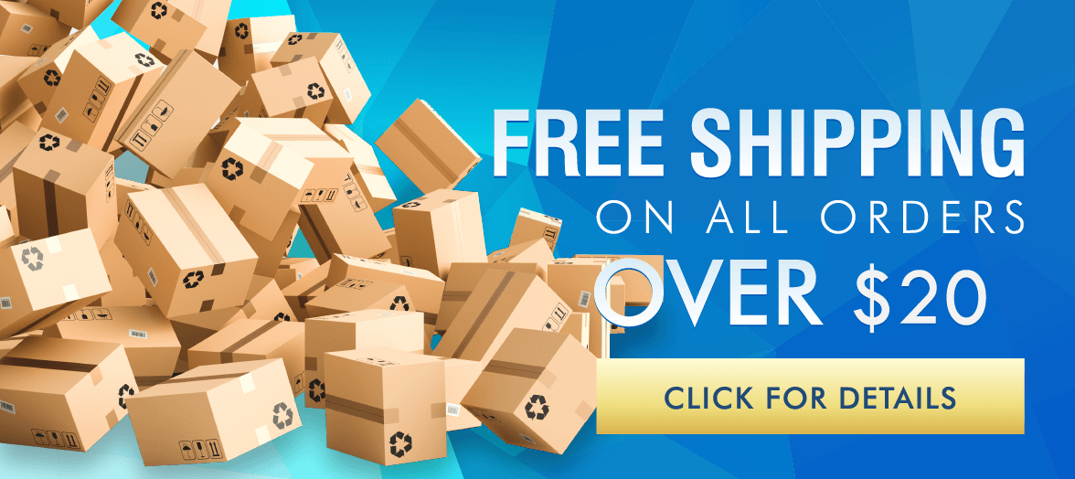 Banner For Free Shipping Over $20 Program, Click For Details