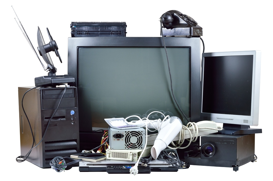Old And Used Electronic Home Waste.