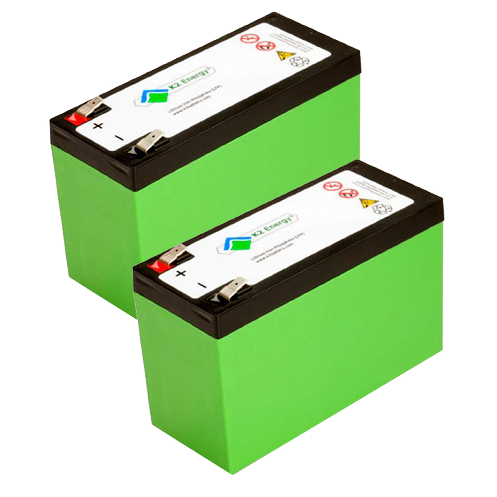 2pc K2 Energy 12v 7ah Lifepo4 Battery For Golf Carts