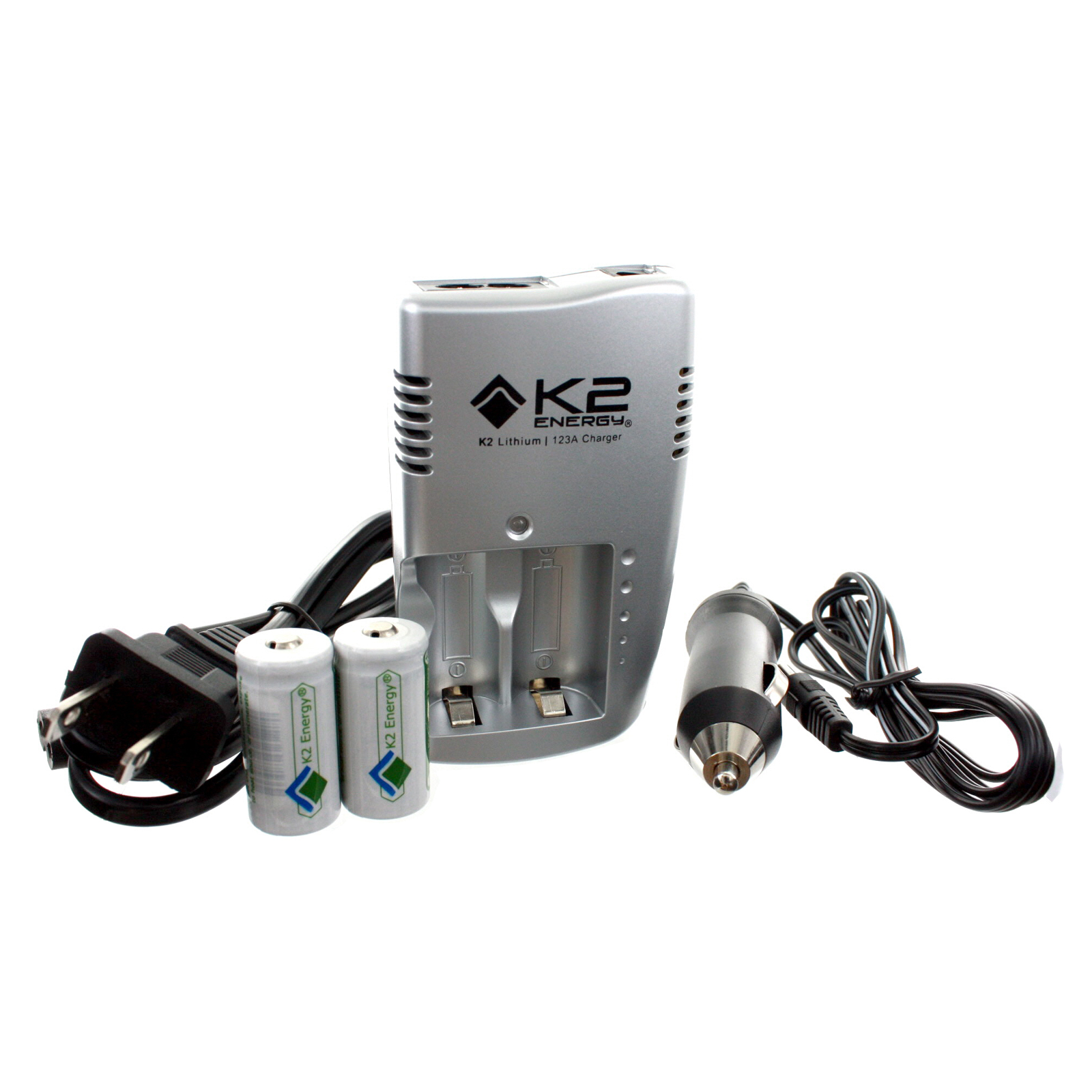 K2 energy k2c123a battery charger with 2 lfp123a 32v li ion k2 energy k2c123a battery charger with 2 lfp123a 32v li ion batteries fandeluxe Choice Image