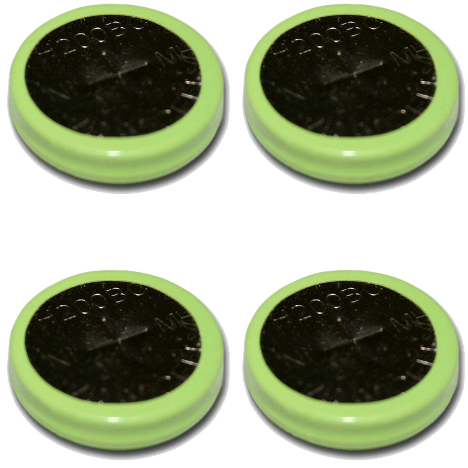 4pcs Coin Cell 200mah Nimh 1 2v Flat Top Rechargeable