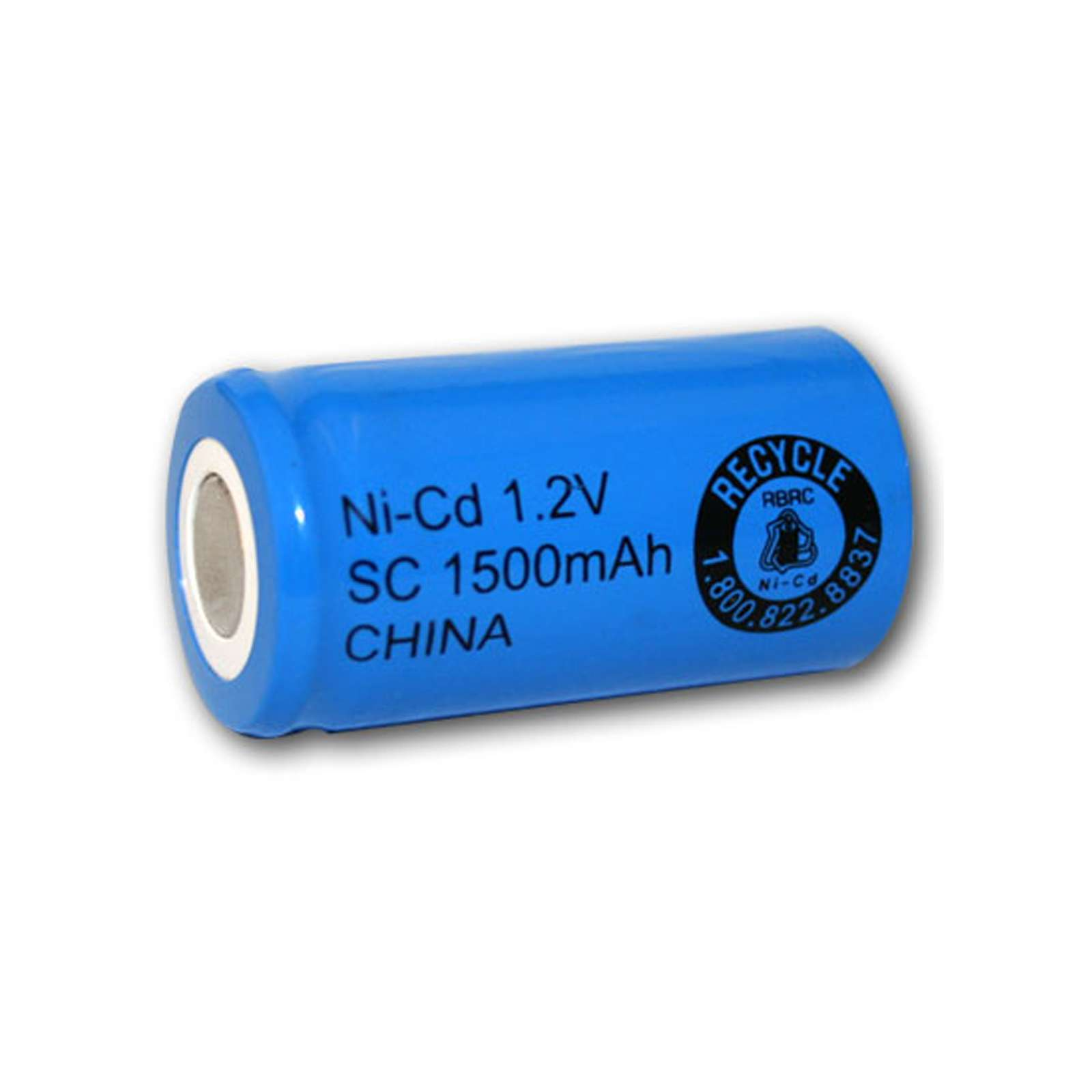 Exell 1 2v 1500mah Nicd Subc Rechargeable Battery Flat Top